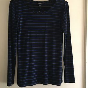 NWT cable & gauge LS tee shirt